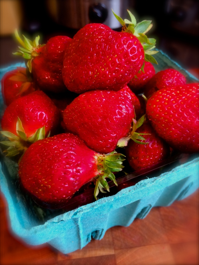 When you see strawberries this red and juicy, buy as many as you can eat.