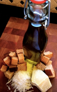 The oil and cheese can also be customized to your preferences.